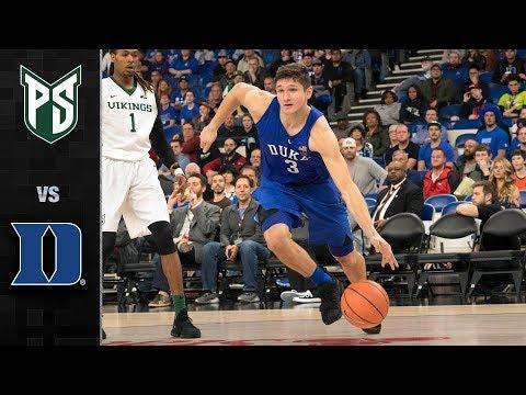 Portland State vs. Duke Basketball Highlights (2017)