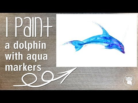 Spectrum Aqua makers watercolour, watercolor dolphin