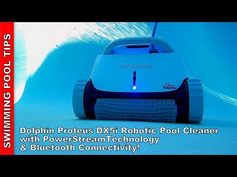 Dolphin Proteus DX5i Robotic Pool Cleaner with PowerStream Technology & Bluetooth App Control!