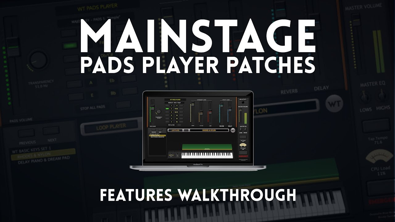 MainStage Pads Player - Pads 6 (Shimmer Pads)