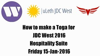 JDC West 2016 Hospitality Suite - Toga Tutorial featuring Matt and Nicole