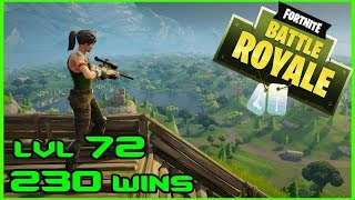 FORTNITE BATTLE ROYALE - LVL 72 - 230 WINS - LIVE - (PS4 PRO) Full HD