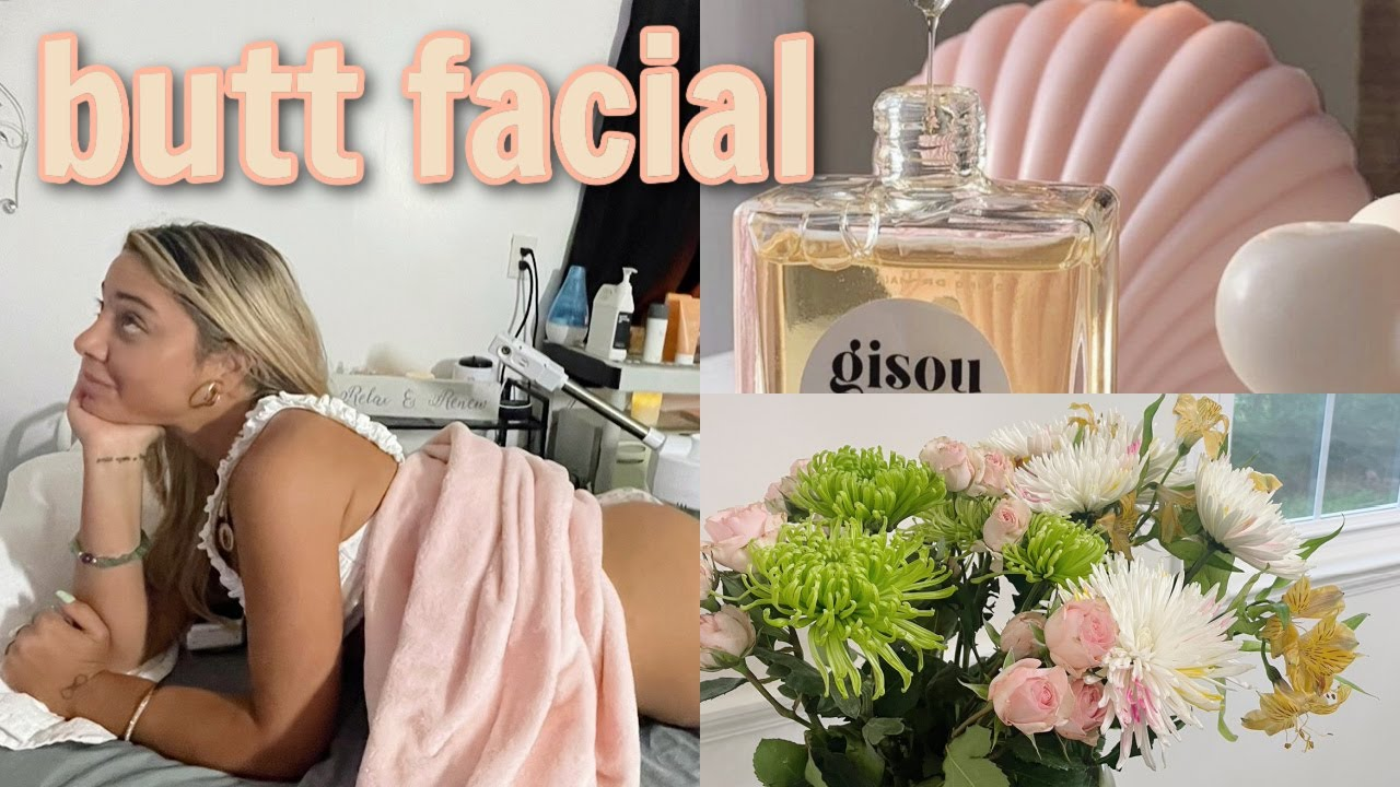 """getting a beauty treatment for my booty 🍑 the """"butt facial!"""" self care vlog"""