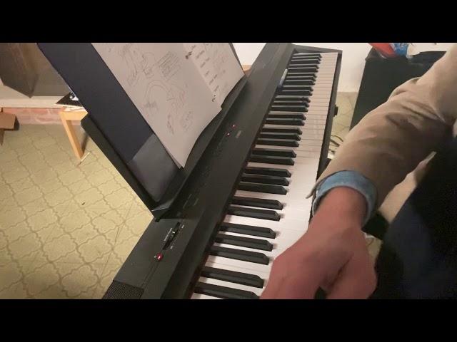 Mario is writing a symphony in C harmonic minor!