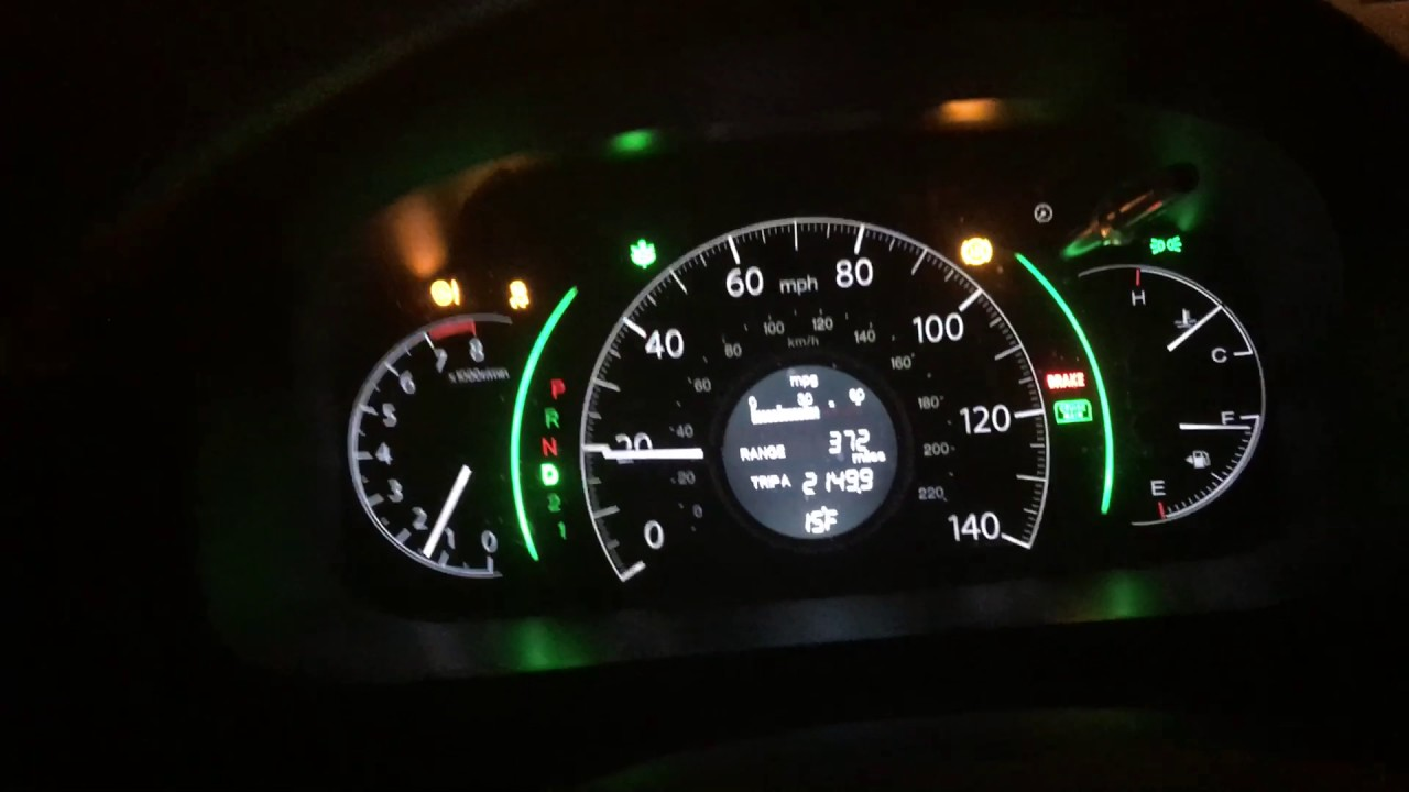 Honda CR-V 2014 dash lights up when its cold. - YouTube