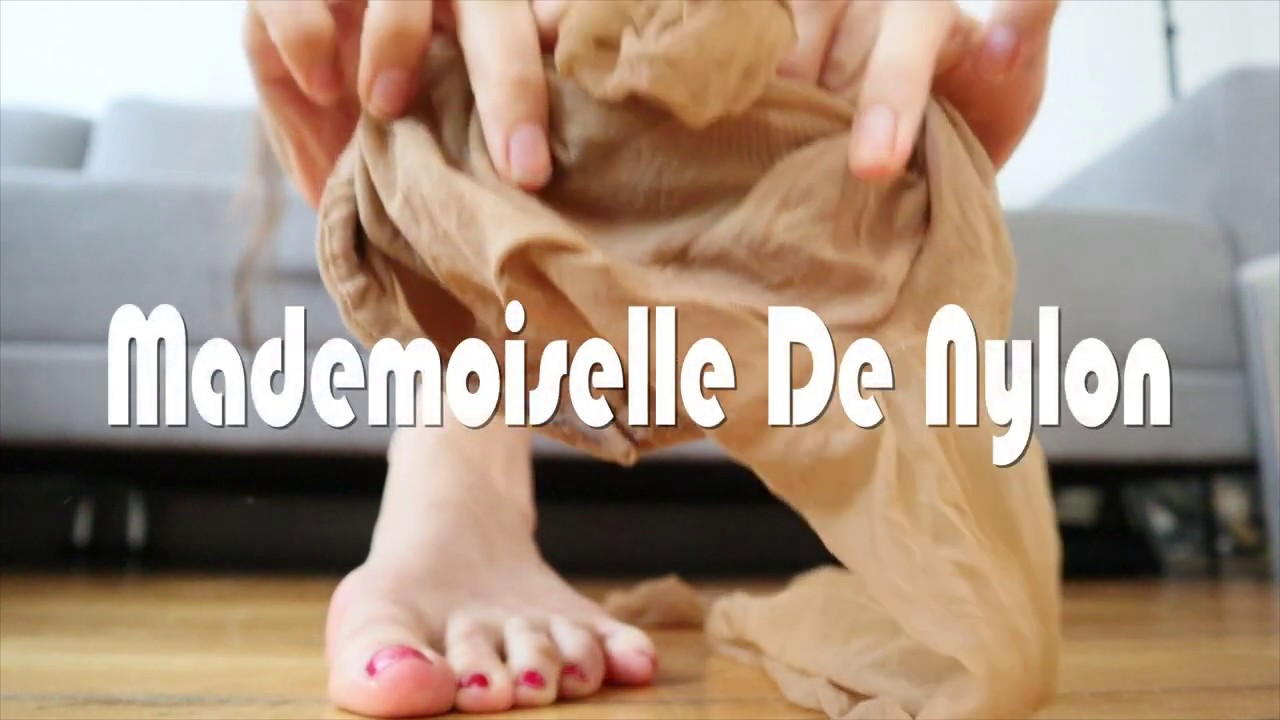 Mademoiselle de Nylon by Tomato Juice Kween (Shoe play in pink high heeled mules & ballet shoes)