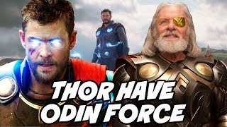 ODIN Force in MCU and THOR has Odin force in Avengers Infinity War Explained HINDI