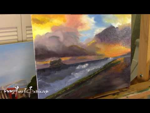 Serenity Oil Painting by artist Janet Garcia – Part 05 Finishing Touches in Real Time