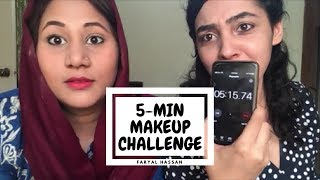 Makeup With A Friend  Makeup Challenge  Faryal
