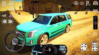 Driving School Sim Araba Oyunu #18 - Cadillac Escalade Sürüş Simülatörü - Android Gameplay screenshot 3