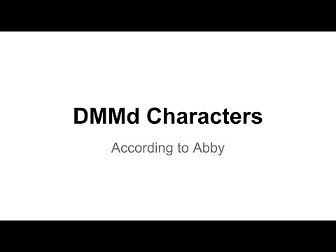 DMMd Characters According to Abby