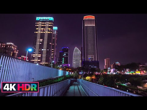 【4K HDR】Taichung Evening Walk|City Light|Christmas Lights|Fireworks|台中七期徒步之旅巧遇老虎城跨年煙火試放|Taiwan Walk