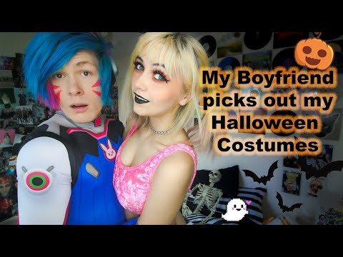 My Boyfriend Picks Out My Halloween Costumes From Spirit Halloween 2020 + Try On Haul🎃