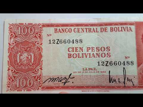 Some Bolivian Banknotes, Beautiful