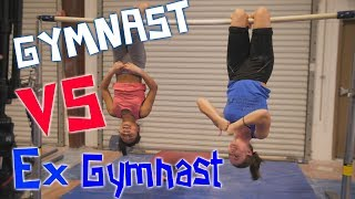 Gymnast VS Ex Gymnast Gymnastics Competition| Rachel Marie