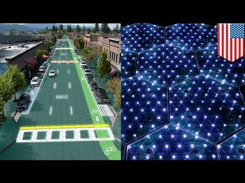 Solar Roadways: solar-powered tech charge electric cars while on the road