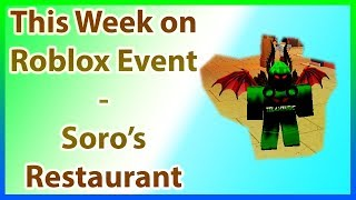 Soro's Italian Restaurant | Roblox LiveOps / Developer Events | This Week on Roblox Event Guide
