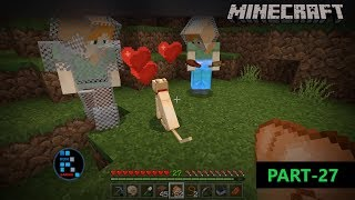MINECRAFT FUN GAMEPLAY | WE FOUND A CAT IN THE VILLAGE AND TAMED IT#27