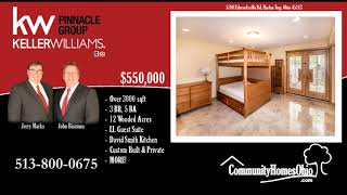 3 Bed 5 Bath Log Cabin Home for Sale on 12 acres 5788 Edwardsville Rd, Harlan Twp OH 45113