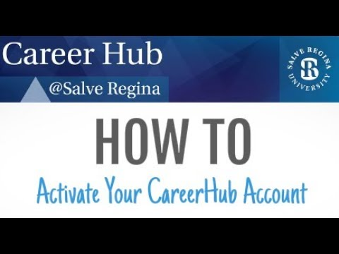How to Activate Your CareerHub Account