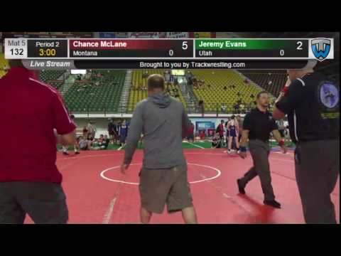 444 CADET 132 Chance McLane Montana vs Jeremy Evans Utah 8421077104