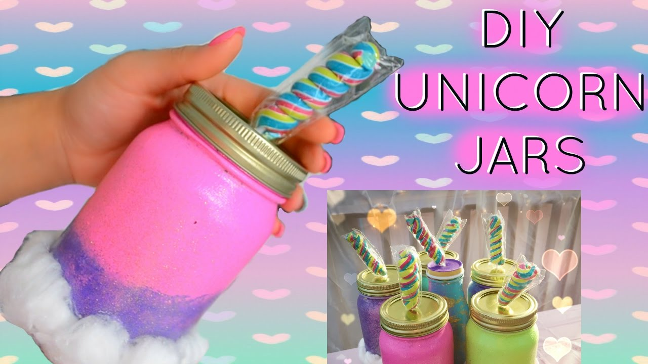 DIY UNICORN MASON JARS | UNICORN PARTY DECOR | UNICORN PARTY - YouTube