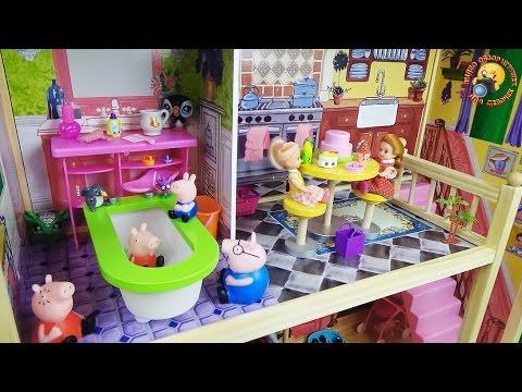 Мультфильм с куклами: Новый дом. Игрушки, видео для детей / Dolls Play Kids New House Baby