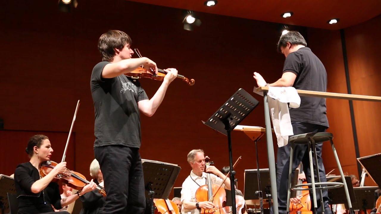 Rehearsing Bernstein with Joshua Bell, 05/03/2013