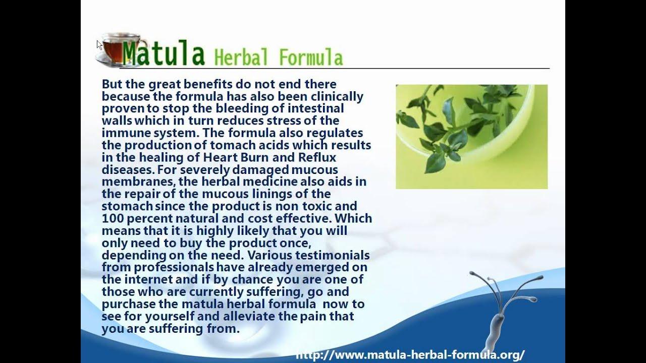 Matula Herbal Formula A Story About Matula Herbal Formula Youtube