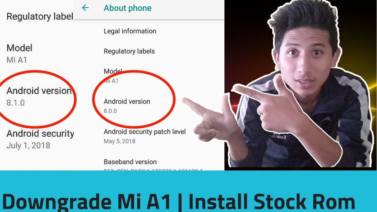 How To DOWNGRADE MI A1 To April Security Patch Level And Install STOCK ROM
