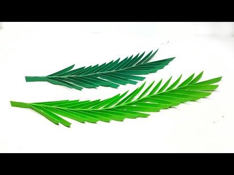DIY Paper Palm Leaves    Paper Palm Leaf    Easy Paper Craft