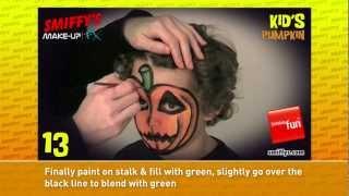Pumpkin Halloween Face Painting Make-up Tutorials for Children Thumbnail