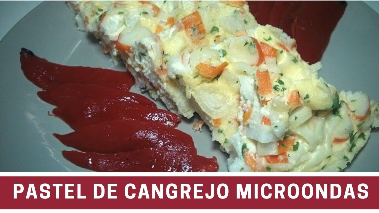 Pastel de cangrejo al microondas cocinar en microondas for Cocinar microondas