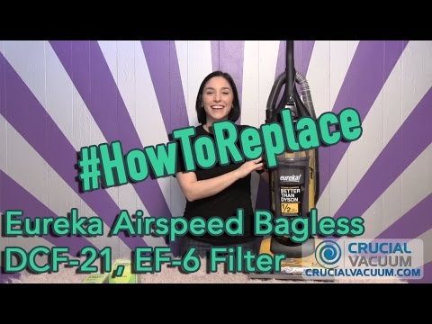 Eureka Airspeed Bagless DCF-21 & EF-6 Filter Replacement: Part # 67821, 68931, 68931A, 69963, 8309-1
