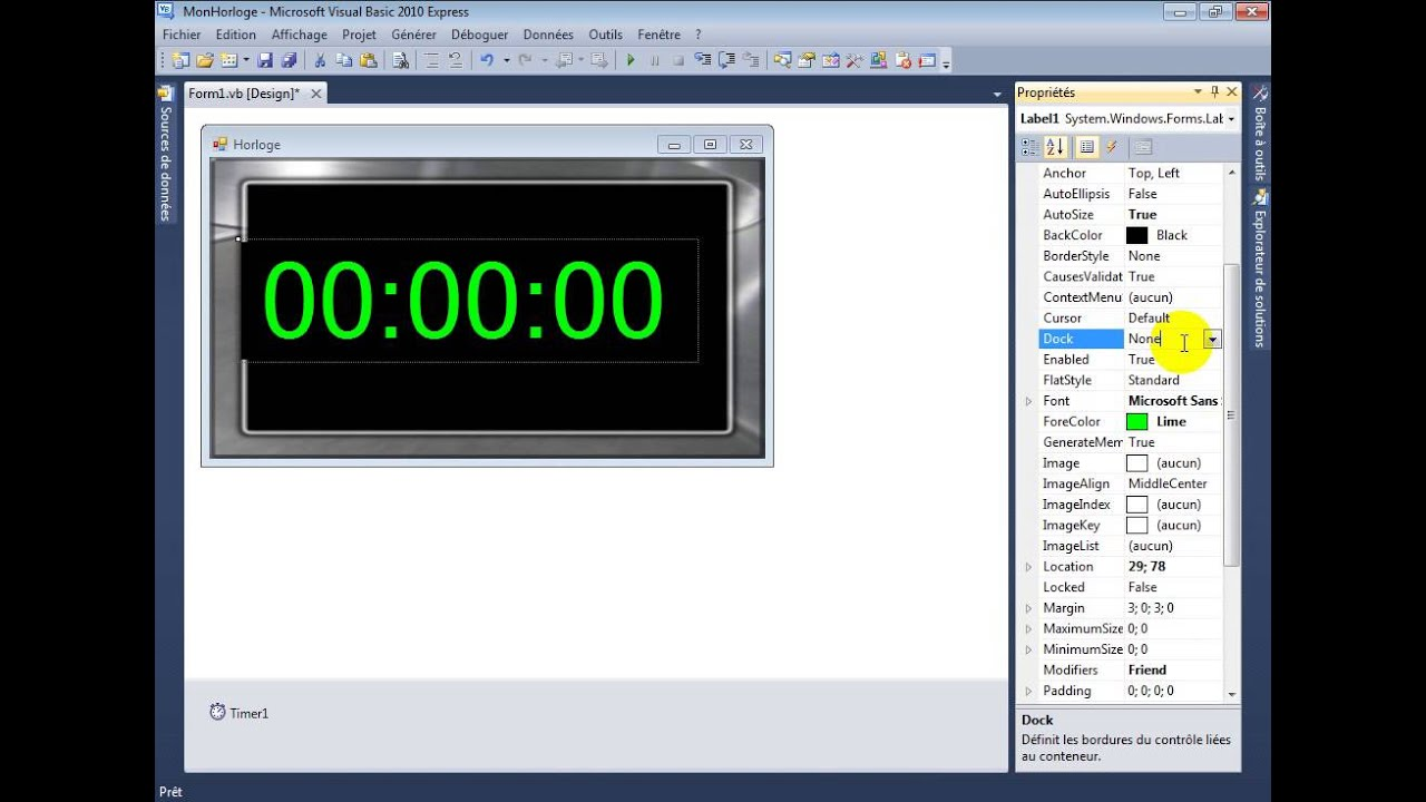 Ongekend créer une Horloge Simple avec vb.Net - (Tutoriel) - YouTube IJ-85