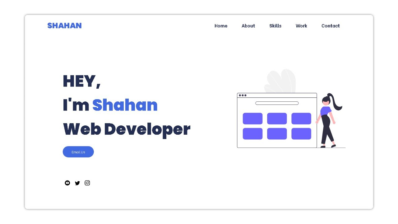 Complete Responsive Minimal Personal Portfolio Website Using Html Css And Javascript