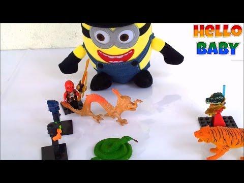 Đồ chơi Lego Ninjago vs Chima_Chơi Đồ Chơi Trẻ Em Với Minion(Tập 10)| Hello BABY!!!