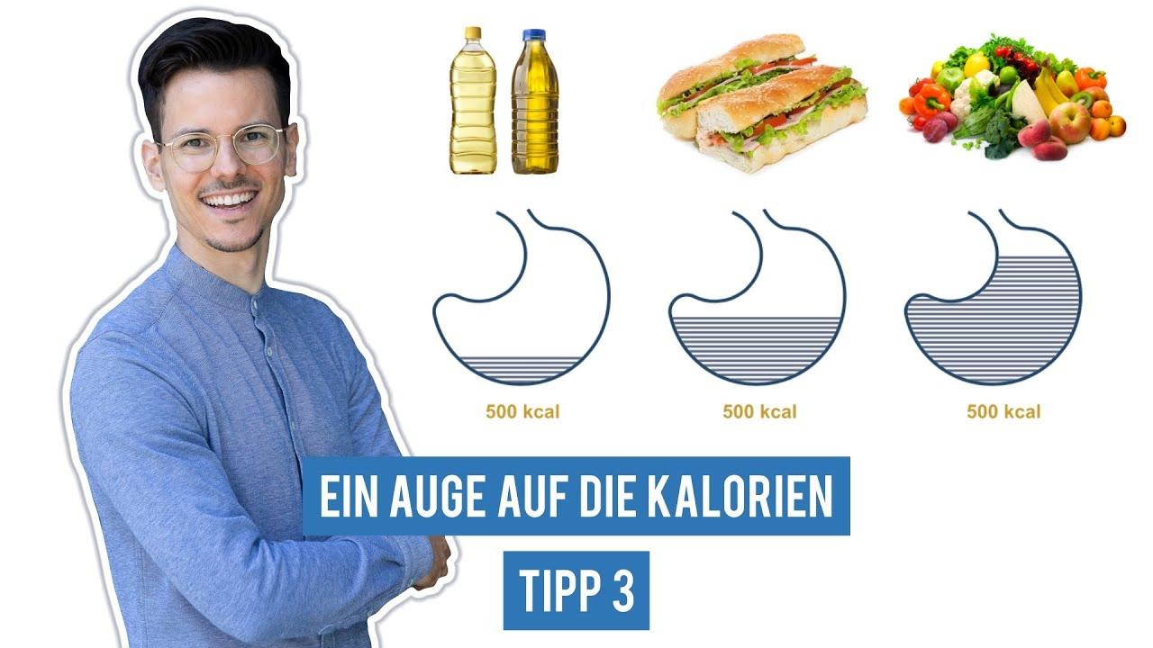 Kaloriendichte anstatt Portionsgröße beachten • Tipp 3/10 für eine gesunde vegane Ernährung