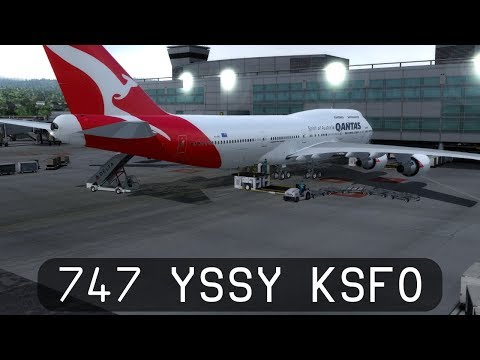 Prepar3d V4 - Qantas 747-400ER - Sydney to San Francisco (YSSY-KSFO)