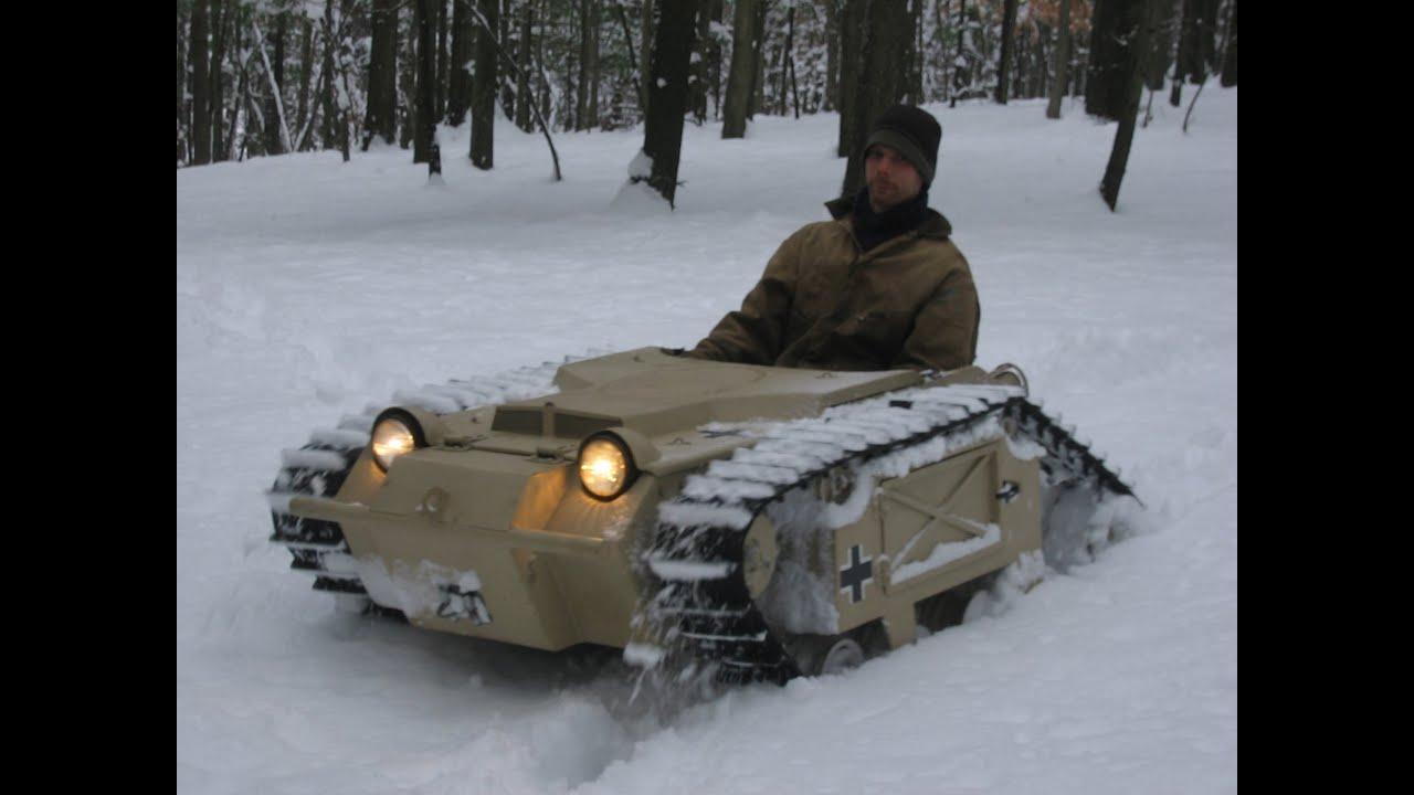 Build A Jeep >> Goliath Tank Snow Romp - YouTube