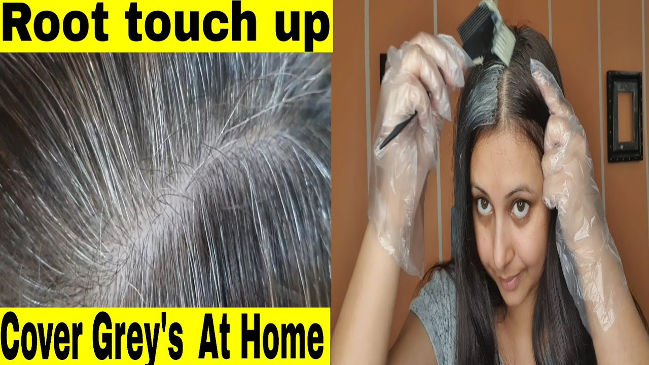 How to : Do a root touch up & cover grey hair at home   Color stubborn grey hair   Kaur Tips