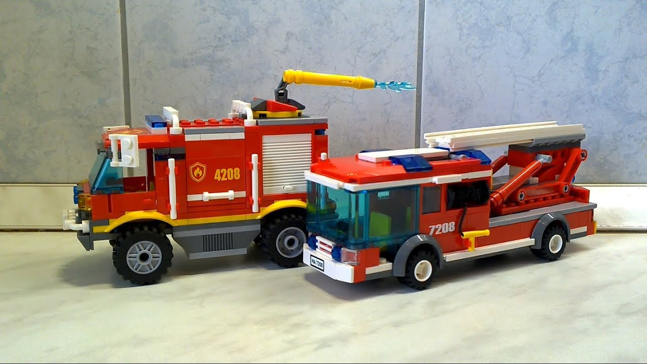 Lego Super Fire Truck And Lego City Ladder Fire Engine 레고
