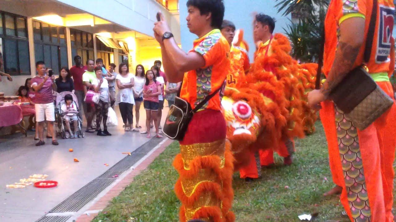 Lion dance singapore cny 2014 part 1 - YouTube