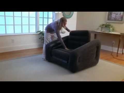 Intex Sofa Chair Leather Armrest Covers Inflatable One Person Bed In Action Outdoorleisuredirect Co Uk Youtube