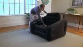 Intex Inflatable One Person Chair Sofa Bed In Action - Outdoorleisuredirect.co.uk