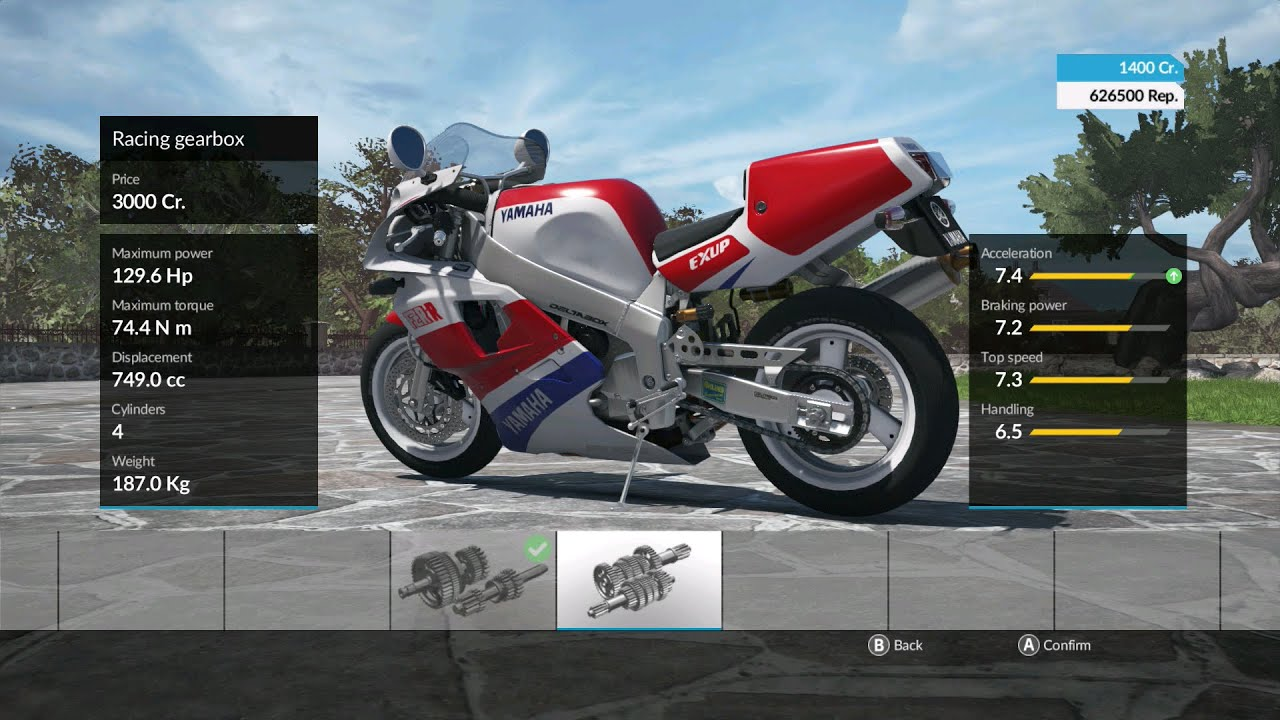 purchasing a bike and upgrading it in the ride videogame. Black Bedroom Furniture Sets. Home Design Ideas