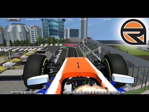 rFactor: RACING AT BAKU F1 2016 Mod (Azerbaijan)