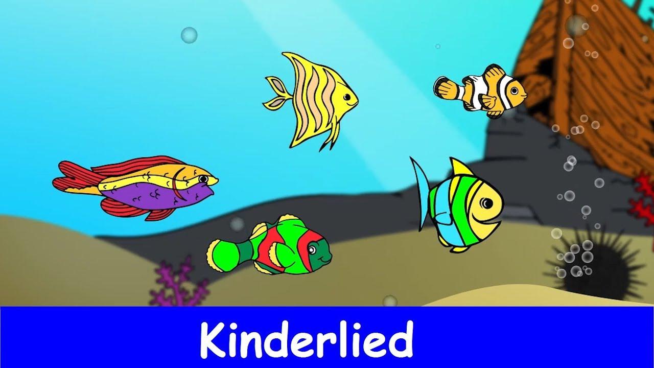 FГјnf Kleine Fische Die Schwammen Im Meer