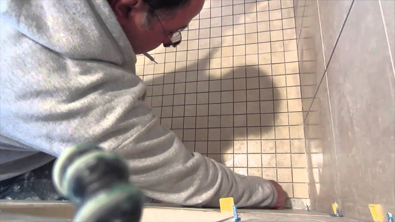 Complete Tile Shower Install Part 8. Installing The Shower Floor Tile