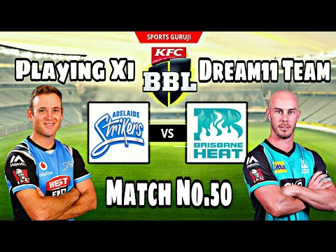 adelaide-strikers-vs-brisbane-heat,-bbl08-match-no.50,-playing-xi,-dream11-and-fantain-team